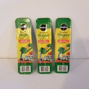 (3) Miracle-Gro Pour And Feed Singles Ready To Use Plant Food Garden Fertilizer