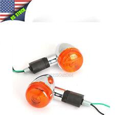 2x Mini Turn Signals Amber Blinker For Honda Shadow VT VT1100 VT750 VT600 VF750