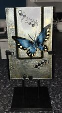 Large Modern Silver Glass Butterfly Stand Decorative Steel Display Vase