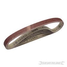 Lot de 5 bandes abrasives 13 x 457 grain de 60, 80, 120