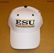 Emporia State University Hat White Adjustable Embroidered (A453-Hats1)