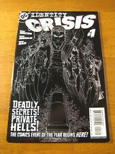 Wow! IDENTITY CRISIS #1 (Black Sketch Cvr!) **SIGNED BY MICHAEL TURNER!** COA!