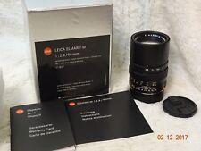 Coffret LEICA 90 mm f/2.8 Elmarit-M en parfait état + passeport 11807 + Case