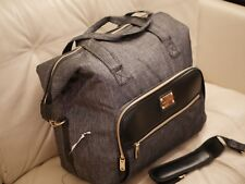 NEW ADRIENNE VITTADINI Weekender BLACK  Duffle Bag Carry on Luggage Tote LARGE