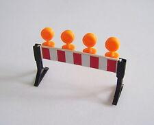 PLAYMOBIL (Q1218) CHANTIER - Barrière pour Travaux avec Lumières Oranges