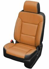 Chevrolet Chevy Silverado Crew Cab LT Katzkin Black & Autumn Leather Seat Covers