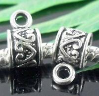 Wholesale 30/65Pcs Tibetan Silver  Spacer Beads 11x6mm(Lead-free)