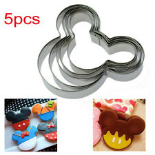 5 pcs Mouse Shape Disney Style Mick Cookie Cutter Kids Biscuit Mold Party Dough