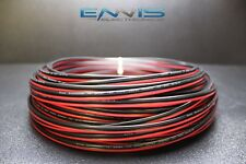 14 GAUGE 100FT RED BLACK ZIP WIRE AWG CABLE POWER GROUND STRANDED COPPER CLAD EE