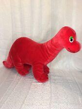 "511f29128a5 VGUC-RARE-Vintage-28"" Gerber Precious Plush Red Brontosaurus Dinosaur  Stuffed"