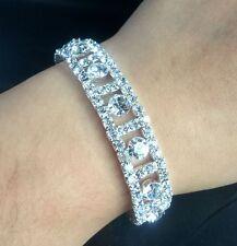Fashion Wedding Jewelry For Bridal Crystal Rhinestone Stretch Bracelet Bangle