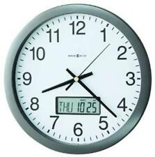 Howard Miller Clock 625195 Chronicle Wall Clock with LCD Inset 14 in. Gray