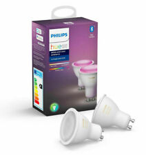 2 X PHILIPS HUE White & Colour Ambiance Smart LED Bulbs | GU10 | Twin Pack