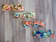 4 Pack Floral Headbands Turban Knotted Bows Girls Hairbands