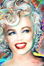 MARILYN MONROE ELECTRIC COLORS POSTER rolled and shrink wrapped 24x36