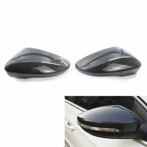 Carbon Fiber Style Rearview Mirror Cover Cap for VW Passat B7 CC Jetta 2011-2017