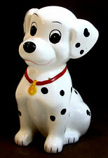 "DISNEY HAND PAINTED 101 DALMATIANS COIN BANK 8.5"" TALL MUST SEE!"