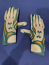 Under Armour Highlight Nfl Issued Football Gloves 1280188 Green/White/Gold Xl Ne