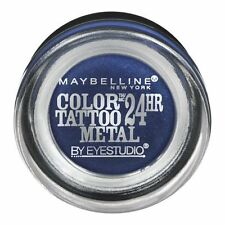 TWO maybelline color tattoo 24hr cream gel shadow 75 Electric Blue