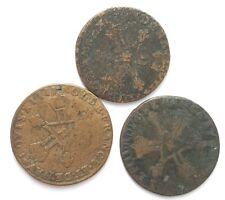 Lot 3 pièces 1 sol France. (AV1972)