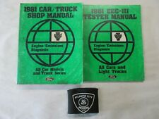 1981 Ford Car/Truck & Eec-Iii Tester Engine Emissions Diagnosis Service Manuals