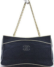 CHANEL Tasche Bag Shoulder Bag Schultertasche matelassé Blue Blau Bleu Rar 255