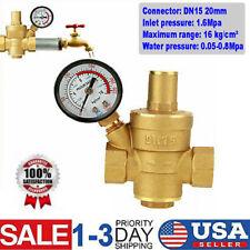 Dn15 Water Pressure Regulator Npt 12 Inch Adjustable Brass Reducerampgauge Meter