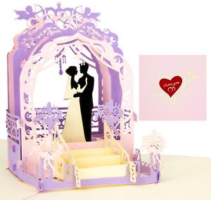 LIMAH® Hochzeitskarte 3D PopUp mit einem Brautpaar