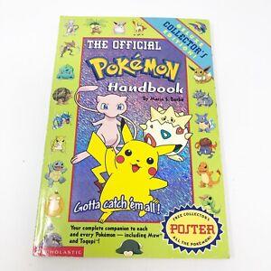 The Official Pokemon Handbook Vol 1 Rare 1999 First Printing Vintage Collectible