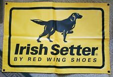 """IRISH SETTER RED WING SHOES DEALER LARGE ADVERTISING BANNER SIGN 27 3/4"""" X 42"""""""