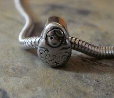 Edelstahl Bead Element Matroschka Fb Antiksilber Silber für Armband 1407