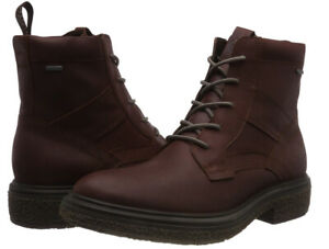 ECCO GORETEX Men's Crepetray Hybrid M Combat Style Boots Burgundy Size 43 UK 9