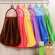 Home Hand Towel Soft Coral velvet Plush Fabric Hanging Wipe Bath Kitchen Towels
