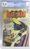 BATMAN 112  CGC 2.5  OW Pages  1957  DC Comic  1st aprnc of Signalman