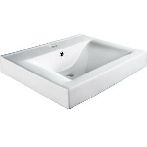 Keramik Waschbecken Handwaschbecken Waschtisch rechteckig Hand Waschbecken weiß