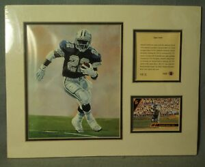 Emmitt Smith vintage Kelly Russell studios color lithograph print Fred Dingler