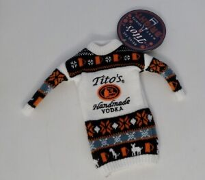 Tito's Handmade VODKA Holiday Sweater Bottle Toppers  New