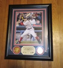 2007 Dustin Pedroia Red Sox Rockie Of The Year 24kt Overlay Medallions RARE