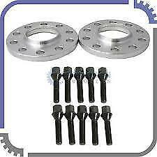 4x 20MM HUBCENTRIC ALLOY WHEEL SPACERS FIT MINI C/W BLK BOLTS And Black Locks