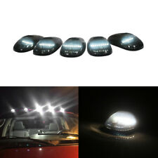 5pcs Smoked Cab Roof White LED Marker Lights Assembly For GMC Chevy Ford Trucks