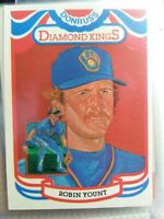1984 Donruss setbreak  Diamond Kings Robin Yount Brewers #1 mint psa ready HOFer
