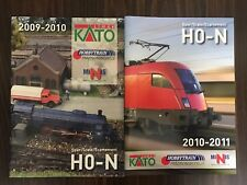 2009-2011 KATO HOBBYTRAIN N SCALE HO MODEL RAILROAD TRAIN CATALOG BOOK LOT