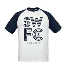 Sheffield Wednesday F.C - Personalised Mens T-Shirt (BASEBALL STRIPE)