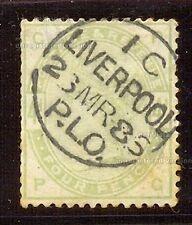 GRAN BRETAÑA YT 1883-84 Nº81 USADO