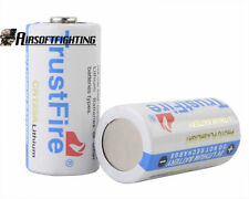 2X TrustFire CR123A 3V 1400mAh Primary lithium Batteries White for SureFire