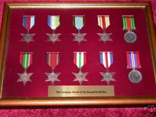 Framed Campaign Medals of WW2 - FULL Size replicas