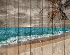 Coastal Ocean Beach Starfish Rustic Wall Art Home Decor Matted Picture