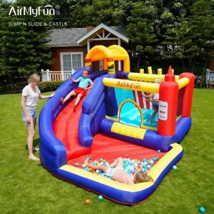 High Quality Bounce Castle Jumping House Sliding Area Outdoor Kid Fun ToySafety