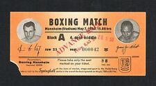RARE 1950 JERSEY JOE WALCOTT boxing ticket Hoff Sachs Schmitz Petri Abele Schopp