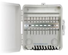 Weatherproof Electrical Plastic Ourdoor Box Enclosure 9x9x4 in, w 8in DIN Rail